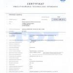 Certyfikat kwalifikowania technologii spawania