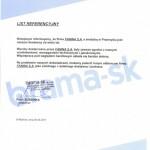 List referencyjny Brama-SK Słowacja
